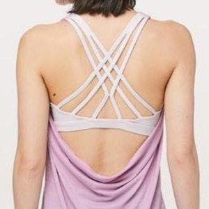 Lululemon Wild Tank Orchid and White Size 2